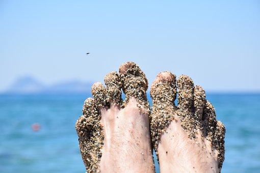 Summer, Feet, Sea, Holiday, Mood, Sand, Ten, Water