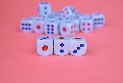 Dices, Cubes, Luck, Gambling, Series, Random, Square