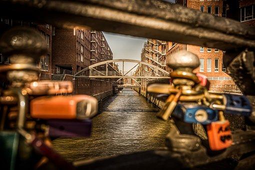Hamburg, Speicherstadt, Architecture, River, Germany