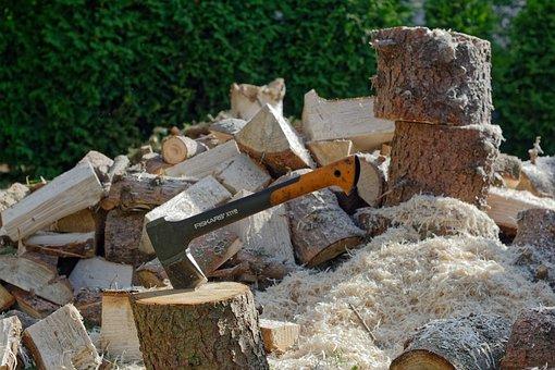 Ax, Chop, Wood, Stumps, Hacking, Tree