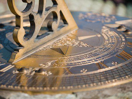 Sundial, Close Up, Macro, Time Indicating, Time, Hours