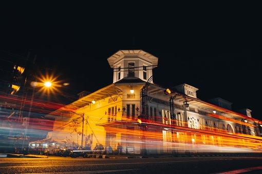 Landscape, Night, Lamp, The Landscape, City, Building
