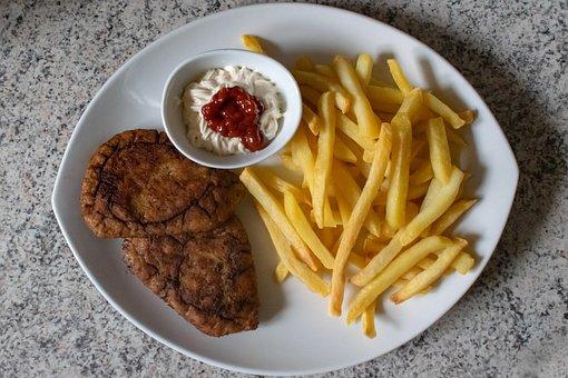 Chips, Turkey, Ketchup, Mayonnaise, Fast Food, Chicken