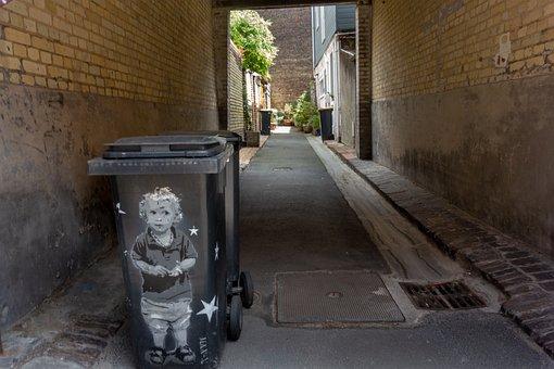 Street, Lane, Trash, Tag, Urban Art, City, Urban