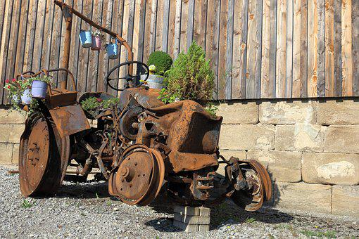 Tractor, Scrap, Rust, Agriculture, Old, Vehicle