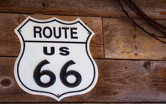 Route 66, Sign, Classic, Highway, Vintage, Nostalgia