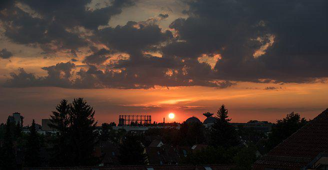 Sunset, Evening Sky, Abendstimmung, Afterglow, Mood