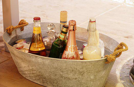 Alcohol, Bottles, Party, Silver, Chilled Drinks