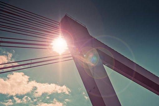 Architecture, Bridge, Suspension Bridge, Pillar