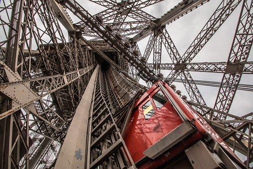 The Eiffel Tower, Lift, Architecture, Paris
