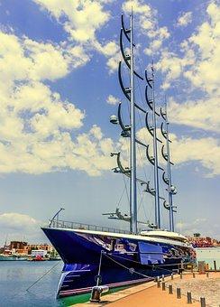 Boat, Sailboat, Ship, Nautical, Yacht, Marina, Blue