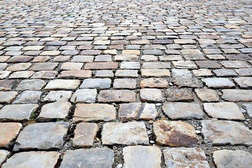 Patch, Cobblestones, Paving Stones, Away, Paved, Grey