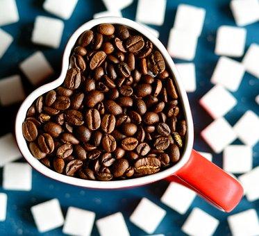 Coffee, Coffee Beans, Coffee Cup, Sugar Lumps, Sugar