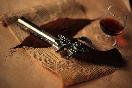 Revolver, Coffee, Cognac, Cover, Enjoy, Menu, France