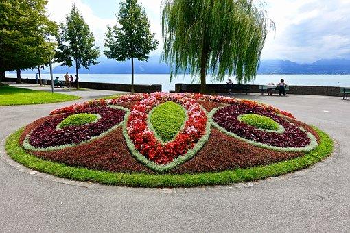 Flowers, Design, Public, Garden, Blooms, Decoration