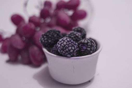 Blackberries, Fruit, Dessert, Delicious