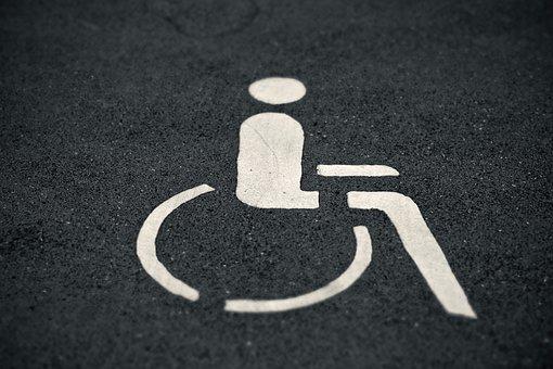 Asphalt, Road, Mark, Disabled Parking Space, Wheelchair