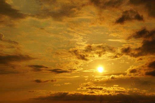 Evening Sky, Sunset, Dusk