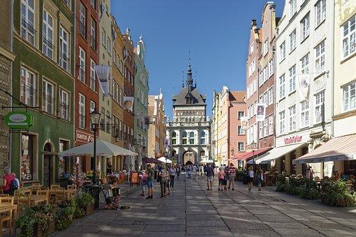 Poland, Gdańsk, Old Town, Long Market, Długi Targ