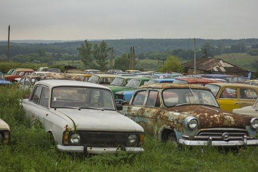 Cars, Field, Museum, Landscape, Soviet, History