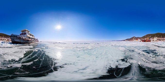Landscape, Mounts, 360°, Snow, Mountains, White