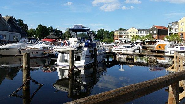 Port, Water, Marina Wolfsbruch, Boat, Pier, Holiday