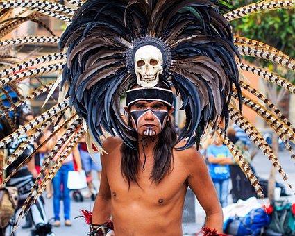 Guerrero, Aztec, Mexico, Traditional, Culture, Warriors