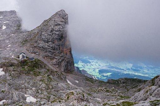 Landscape, Mountains, Mountain Hut, Sky