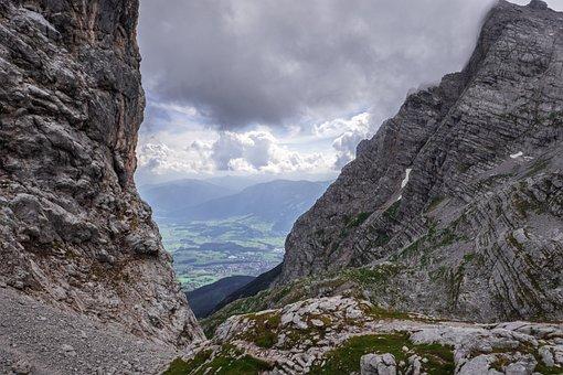 Landscape, Mountains, Sky, Clouds, Salzburger Land