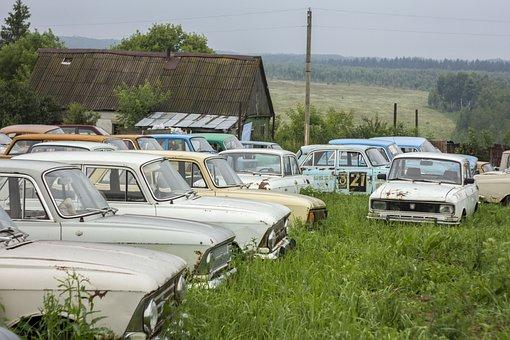 Cars, Museum, Field, Classic, Muscovite, Nostalgia