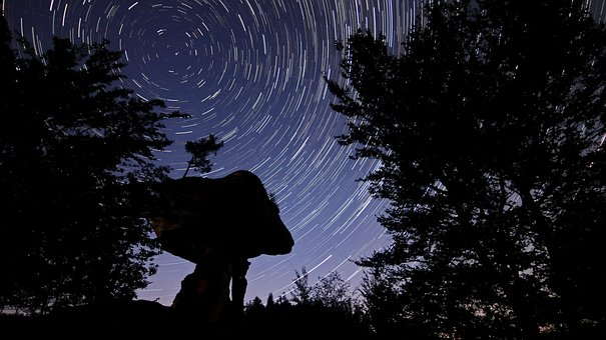 Star, Night, Startrails, Starry Sky, Universe