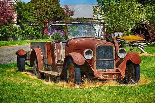 Rusty Car, Car, Old, Vintage, Automobile, Abandoned