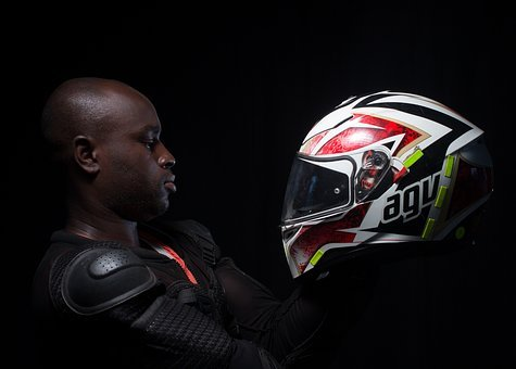 Portrait, Biker, Guy, Helmet, Man, Male, Motorcycle