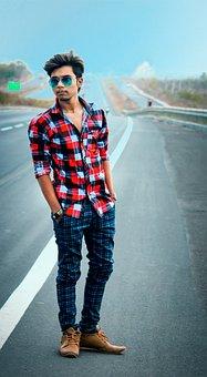 Model, Portrait, People, Man, Adult, Road, Roadside