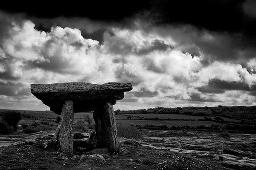 Dolmen, Ireland, Prehistory, Poulnabrone, Clare, Burren