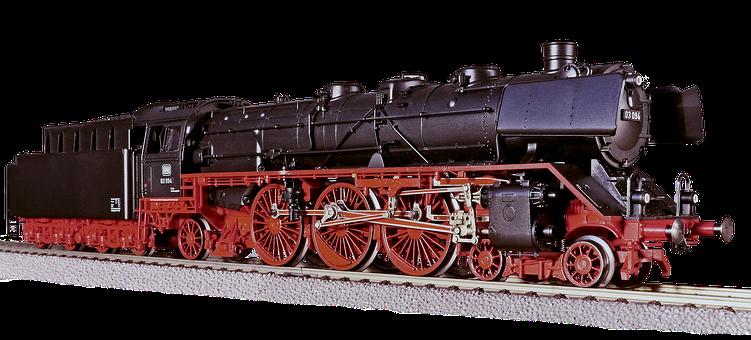 Steam Locomotive, Model, Toys, Isolated, Railway