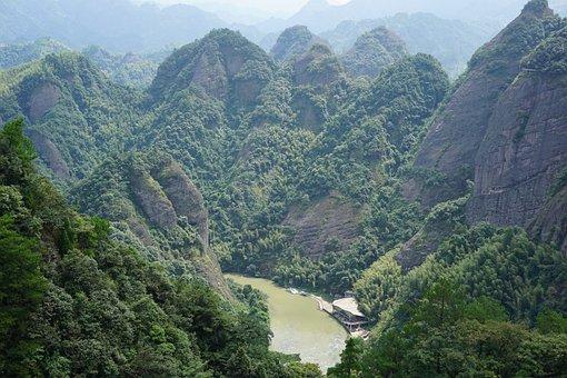 Ziyuan, Geopark, China, Guanxi, River, Scenery, Nature