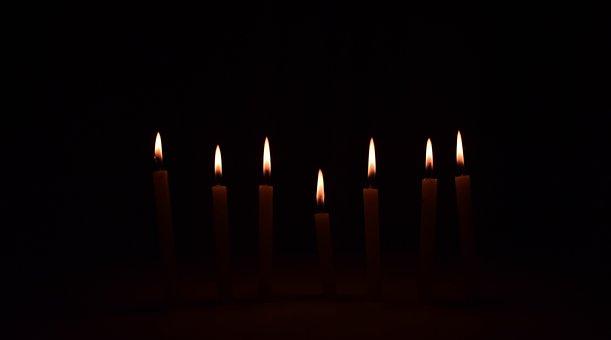 Candles, On, Seven, Light, Calls, Wax, Fire