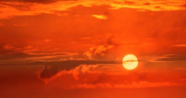 Sunrise, Sun, Clouds, Sky, Mood, Sunset, Romantic