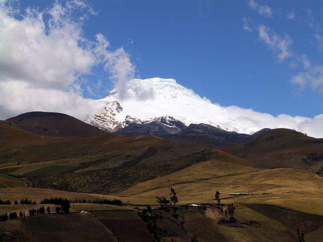 Mountain, Cayambe, Andy, Top, Snow, The Glacier
