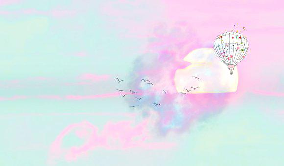 Sunrise, Background, Stationery, Guestbook, Sky, Pink