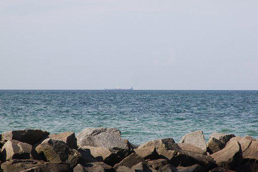 Sea, Stones, Coast, Ocean, Rock, Bank, Scenic, Sky