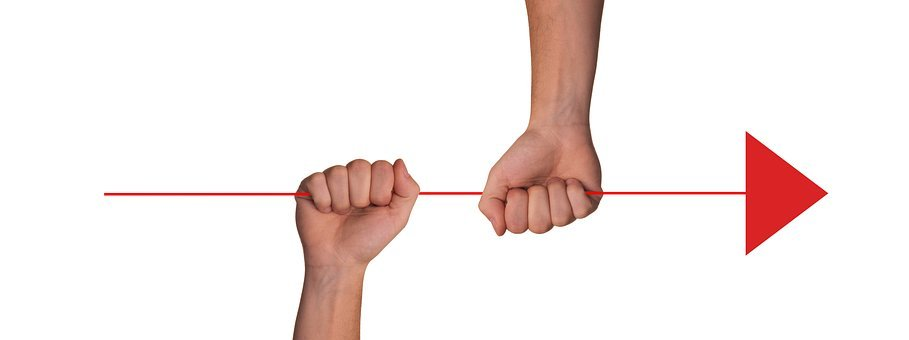 Team, Hands, Forward, Keep, Strand, Drag, Together