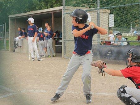 Baseball, Little League, Summer, Sports, Kids, Batter