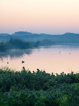 Sunrise, Sunset, Lake, Water, Sky, Landscape, Nature