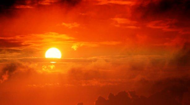 Sunrise, Sun, Clouds, Sky, Nature, Mood, Sunset