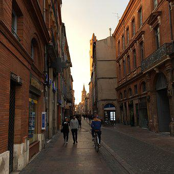 Toulouse, Street, Sunset