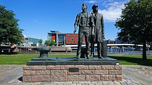 Statue, Trondheim Norway, Norway, Europe, Sculpture