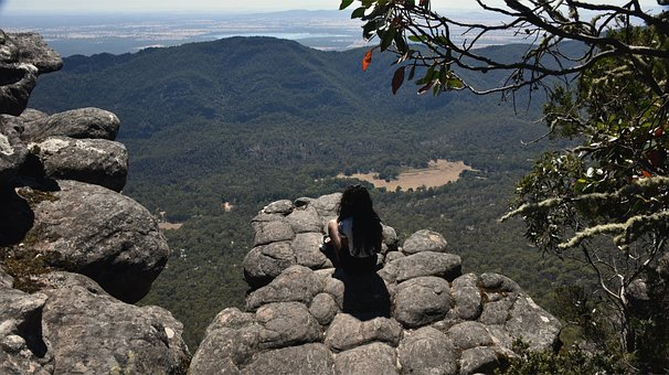 Mountain Top, Meditation, Rock, Nature, Scenic, Valley