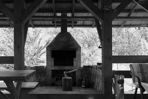 Veranda, Terrace, Grill, Summer, Eat, Barbecue, Home